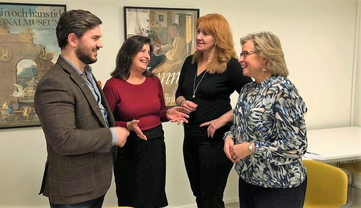 Gruppledarna för Allians för Väsby diskuterar
